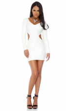 Polished Leatherette V-neck Bodycon Dress Forplay