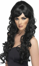 Pop Starlet (Black) Adult Wig Smiffys