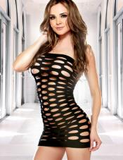 Pothole Black Tube Dress