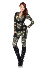 Pretty Paratrooper Costume Leg Avenue