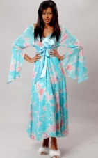Printed Chiffon Long Robe