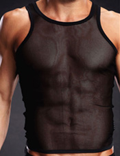 Pro-Mesh Tank Top Black Electric Lingerie