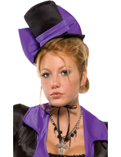Purple Bow Vampire Hat Adult Forplay