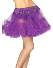 Purple Layered Tulle Petticoat Adult