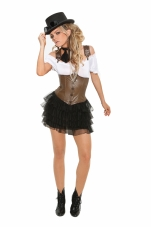 Racy Steampunk Rose 4 Pc Costume Elegant Moments