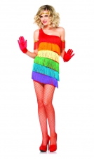 Rainbow Flapper Costume Leg Avenue