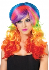 Rainbow Rocker Rave Wig Leg Avenue