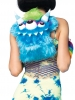Rave Wear Three Eyed Furry Monster Backpack