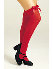 Red Thigh High Stockings with Bow
