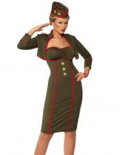 Retro Army Girl Costume Smiffys