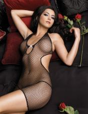 Rhinestone Fishnet Dress