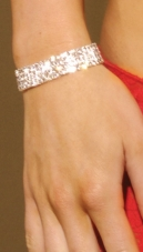 Rhinestone Stretch Bracelet with Four Rows Elegant Moments