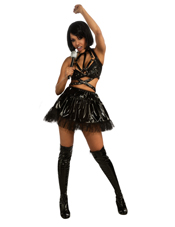 Rihanna Black Outfit Costume