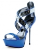 Roni 5 Inch Metallic Mirrored Sandal Ellie Shoes