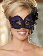 Satin & Lace Mask Shirley