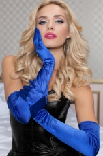 Satin Opera Length Gloves Seven Til Midnight