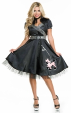 Satin Poodle Dress Adult Costume