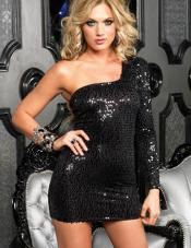 Sequin Night Dress Leg Avenue