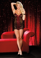 Sequin Sizzle Chemise Shirley
