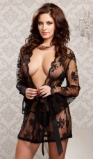 Sheer Lace Robe