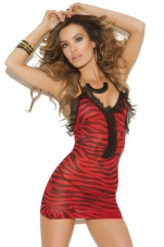 Sheer Zebra Chemise Elegant Moments