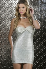 Shimmer Metallic Bandeau Mini Dress Forplay