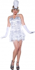 Silver Flapper Plus Adult Costume
