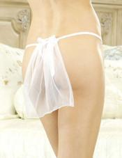 Sinful Bridal Thong Fantasy Lingerie