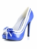 Siren 5 Inch Open Toe Pump with Bow Ellie Shoes