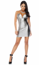 Slither Metallic Snakeskin Textured Dress Forplay