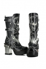 Spawn Knee High Punk Boots Hades