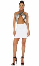 Spotlight Matte Sequin Detail Bodycon Dress Forplay