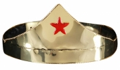 Star Gold & Red Adjustable Adult Crown