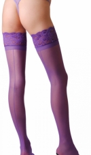 Stay Up Back Seam Sheer Stockings