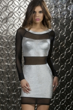 Sterling Metallic & Mesh Contrast Dress Forplay