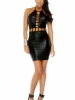 Strings Attached Strappy Chest Bodycon Dress