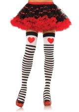 Stripe Stocking with Heart Print
