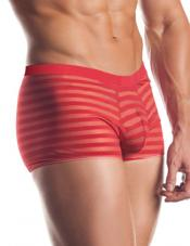 Striped Mesh Boxer