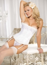 Stunning Floral Tapestry Strapless Corset Shirley