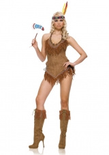 Suede Indian Girl Costume Leg Avenue