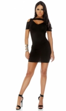 Swank Sort Sleeve Cutout Bodycon Dress Forplay