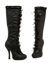 Tabatha 4 Inch Satin Knee Boots with Innerzip