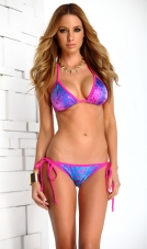 Tahiti Iridescent Classic Triangle Top Bikini Set Forplay