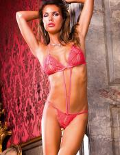 Teddy Peek-a-Boo slits Strappy front & g-string back