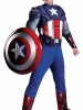 The Avengers Captain America Muscle Plus Adult Costume Disguise