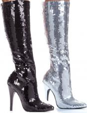 Tin 5 Inch Sequin Knee Boot Ellie Shoes