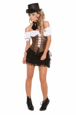 Underbust Corset with Lace Up Front Detail Elegant Moments