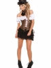 Underbust Corset with Lace Up Front Detail