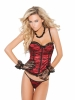 Underwire Satin Bustier with Lace Overlay