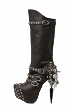Valda Skull and Spike Boots Hades